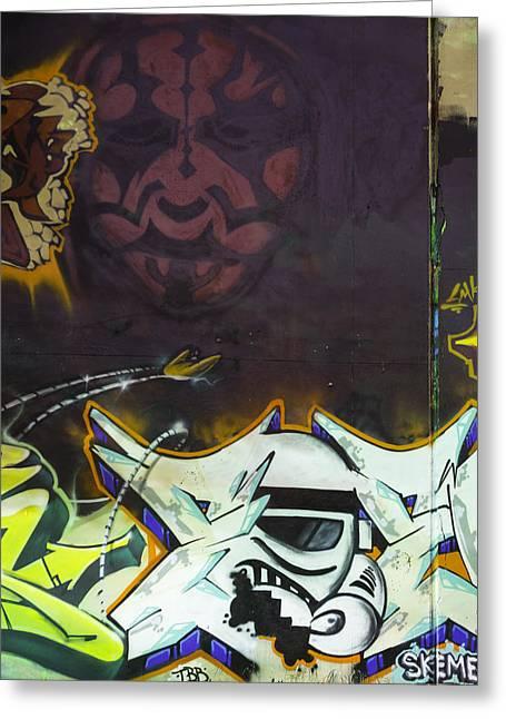 Master Yoda Greeting Cards - Darth Maul Storm Trooper Greeting Card by Jonathan Davison