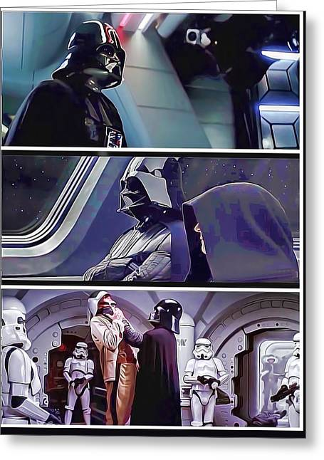 Movie Prop Digital Greeting Cards - DARTH VADER - Dark Side Of The Force Greeting Card by Nenad  Cerovic