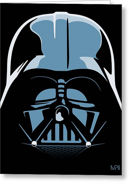 Star Greeting Cards - Darth Vader Greeting Card by IKONOGRAPHI Art and Design