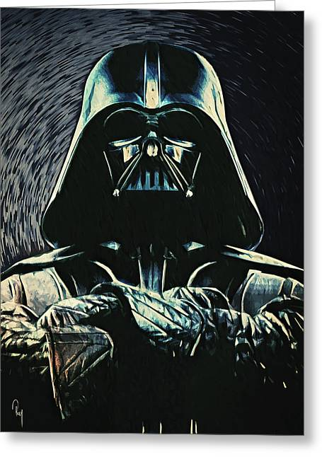 Cafe Greeting Cards - Darth Vader Greeting Card by Taylan Soyturk
