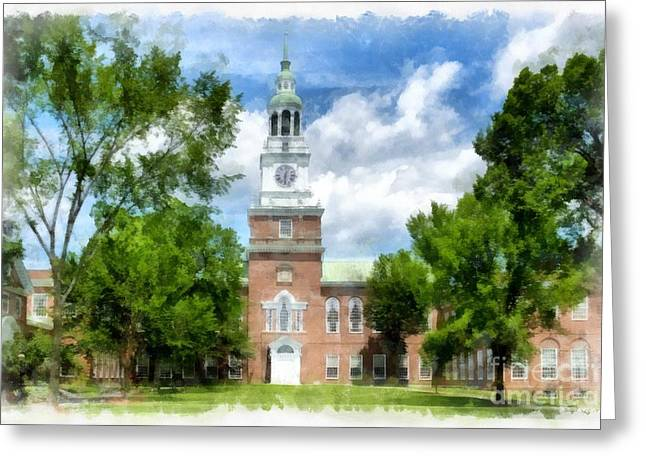 Hanover College Greeting Cards - Dartmouth Collage Greeting Card by Edward Fielding