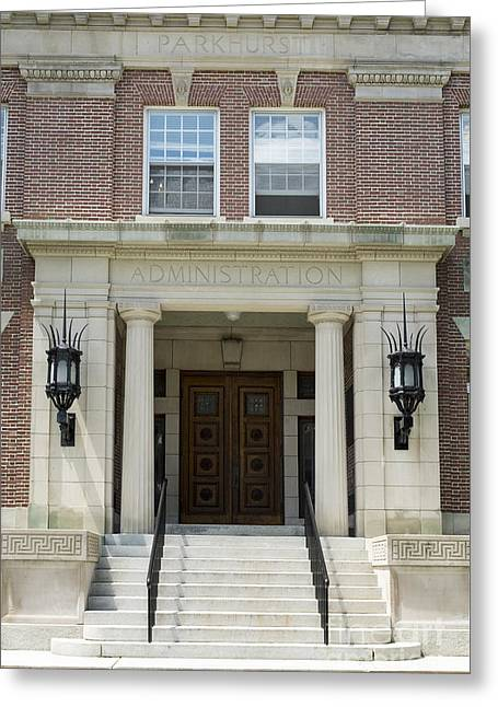 Hanover College Greeting Cards - Dartmouth College Administration Building Greeting Card by Edward Fielding