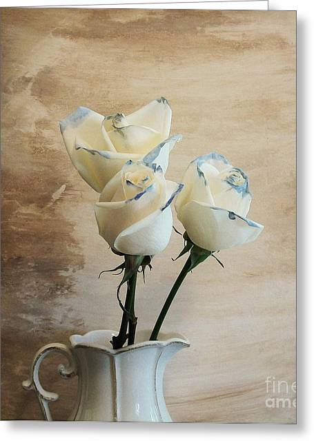 Photo-based Greeting Cards - Dating Roses Greeting Card by Marsha Heiken