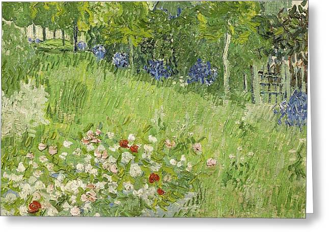 Vincent Van Gogh Greeting Cards - Daubignys Garden Greeting Card by Van Gogh