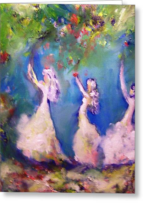 Youthful Greeting Cards - Daughters of Neptune Greeting Card by Patricia Taylor