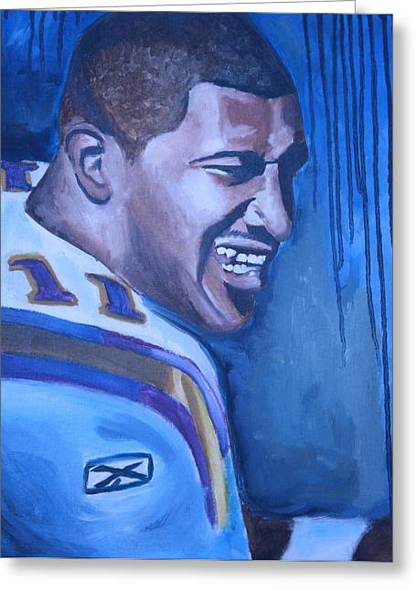 Daunte Culpepper Greeting Card by Mikayla Ziegler