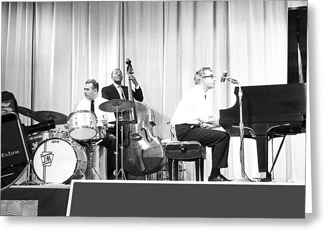 Jazz Pianist Greeting Cards - Dave Brubeck Quartet 1967 Greeting Card by Jan Faul