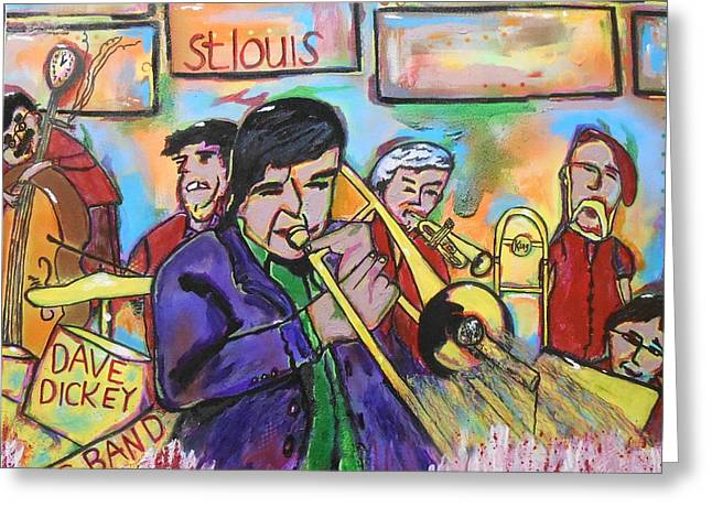 Recently Sold -  - Dave Greeting Cards - Dave Dickey Big Band Greeting Card by Gh FiLben