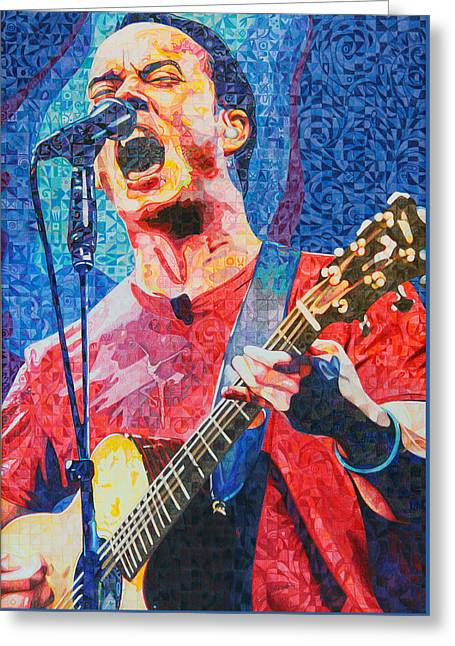 The Drawings Greeting Cards - Dave Matthews Squared Greeting Card by Joshua Morton