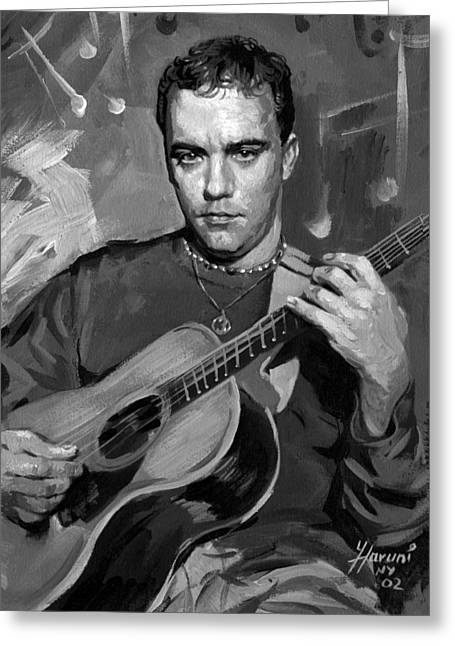 Songwriter Paintings Greeting Cards - Dave Matthews Greeting Card by Ylli Haruni