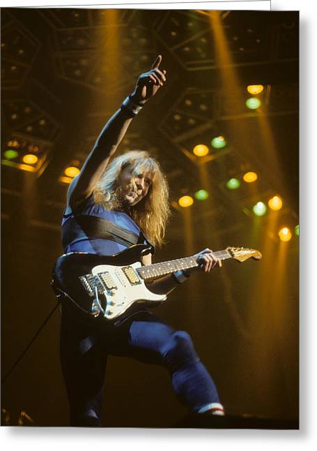 Iron Maiden Greeting Cards - Dave Murray of Iron Maiden Greeting Card by Rich Fuscia