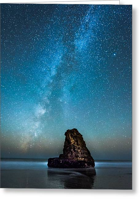 Purchase Greeting Cards - Davenport Milkyway Greeting Card by Nicholas Steinberg