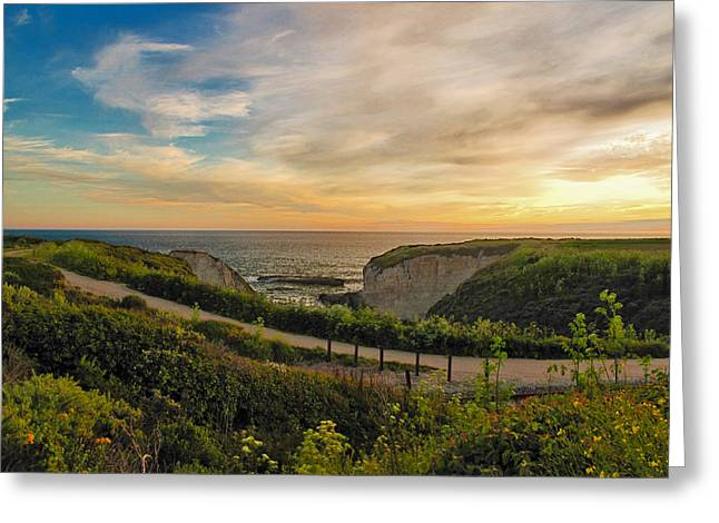 Larry Darnell Greeting Cards - Davenport Postcard Sunset Greeting Card by Larry Darnell