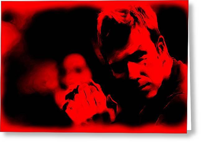 Saint Joseph Greeting Cards - David Beckham 5c Greeting Card by Brian Reaves