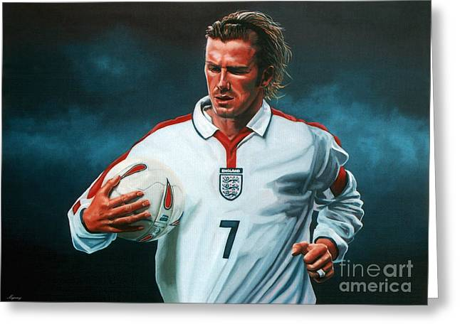 David Beckham Greeting Card by Paul Meijering