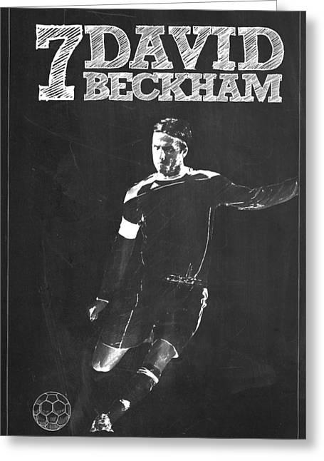 David Beckham Greeting Card by Semih Yurdabak