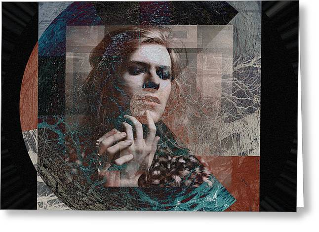David Bowie Hunky Dory Greeting Card by Graceindirain Imagery