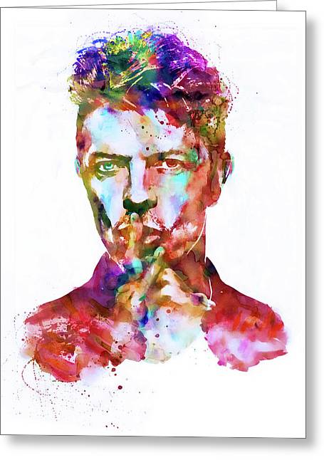 David Bowie  Greeting Card by Marian Voicu