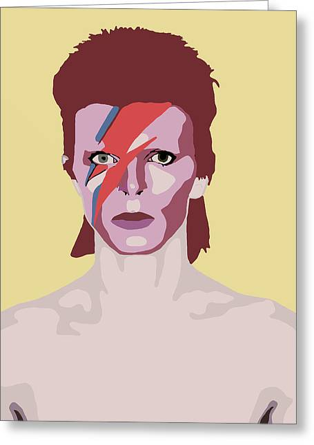David Bowie Greeting Card by Nicole Wilson