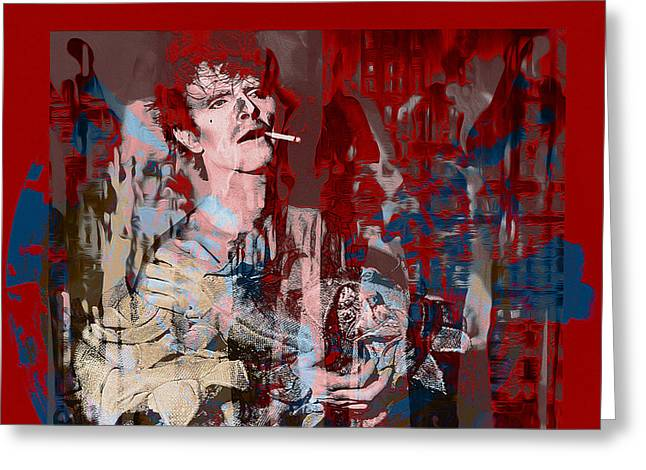 David Bowie    Scary Monsters Greeting Card by Graceindirain Imagery