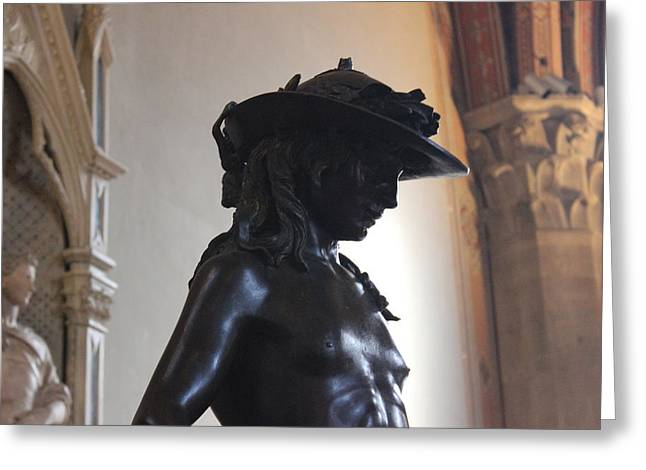 David By Donatello Greeting Card by Susan Bryant
