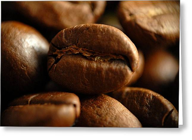 David Digital Art Greeting Cards - David Cook Los Angeles Coffee Bean Close Up Greeting Card by David Cook Los Angeles