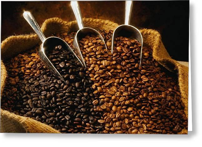 David Cook Los Angeles Greeting Cards - David Cook Los Angeles Coffee Beans Greeting Card by David Cook Los Angeles