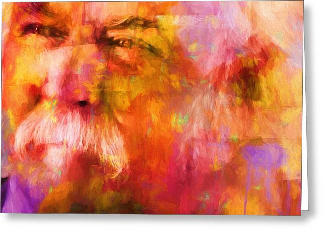 David Crosby Greeting Card by Dan Sproul