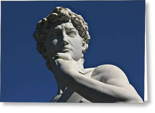Michelangelo Greeting Cards - David Greeting Card by Denise Mazzocco