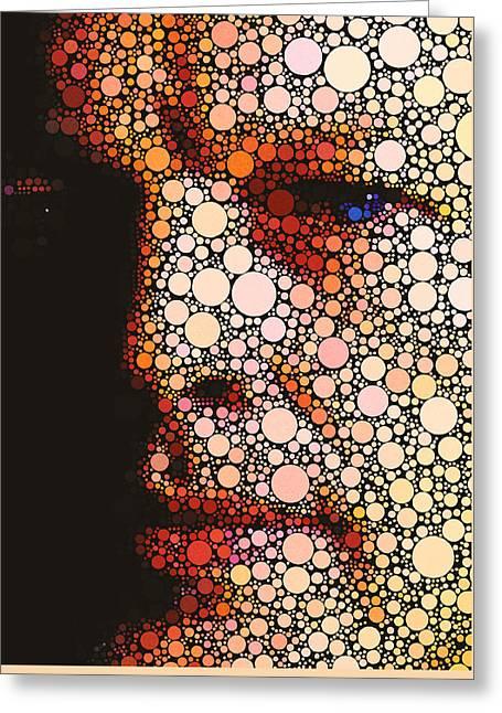 Pop Singer Greeting Cards - David Gilmore Circles 2 Greeting Card by Yury Malkov