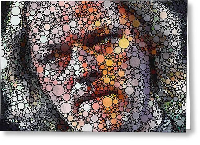 Pop Singer Greeting Cards - David Gilmore Circles 3 Greeting Card by Yury Malkov