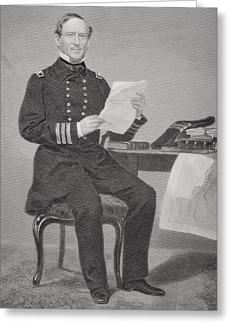 Fame Drawings Greeting Cards - David Glascoe Farragut 1801 - 1870 Greeting Card by Ken Welsh