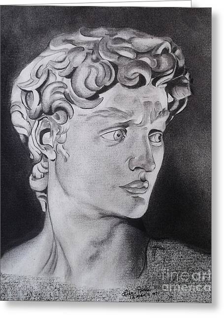 David In Pencil Greeting Card by Lise PICHE