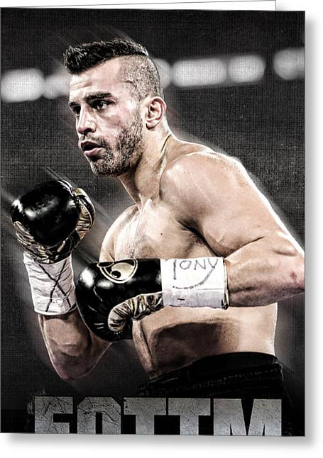 David Lemieux Iphone Cover  Greeting Card by Nicholas Legault