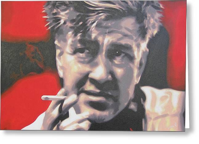 Moira Kelly Greeting Cards - David Lynch Greeting Card by Luis Ludzska