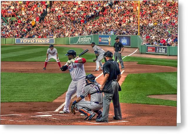 Fenway Park Greeting Cards - David Ortiz - Bostonn Red Sox Greeting Card by Joann Vitali