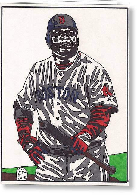 Boston Red Sox Greeting Cards - David Ortiz  Greeting Card by Jeremiah Colley