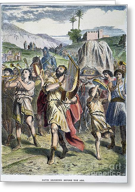 Israelites Greeting Cards - David Rejoicing At Ark Greeting Card by Granger