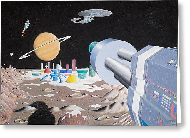 Enterprise Paintings Greeting Cards - David1 Greeting Card by David Radford