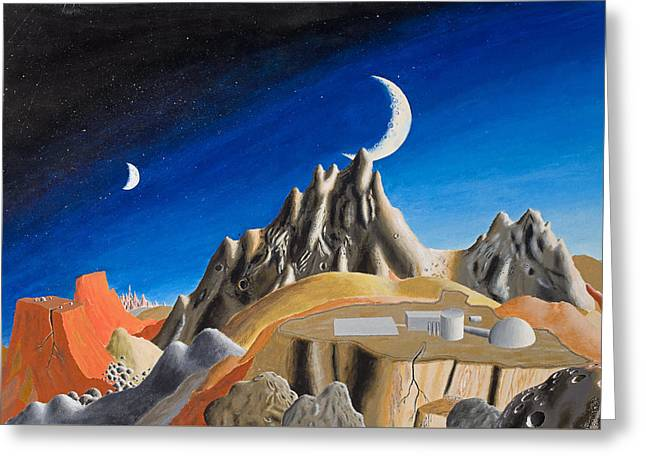 Enterprise Paintings Greeting Cards - David3 Greeting Card by David Radford