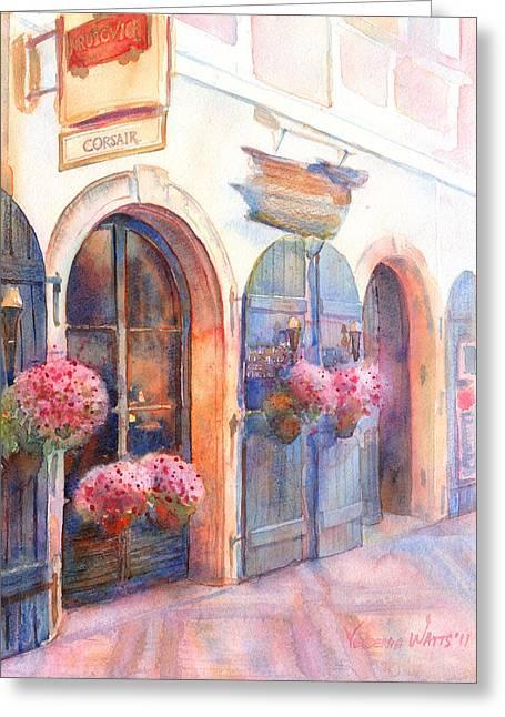 Prague Paintings Greeting Cards - Davids Europe 4 - Prague Greeting Card by Yevgenia Watts