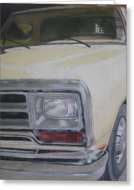 Headlight Pastels Greeting Cards - Davids Truck Greeting Card by Constance Gehring