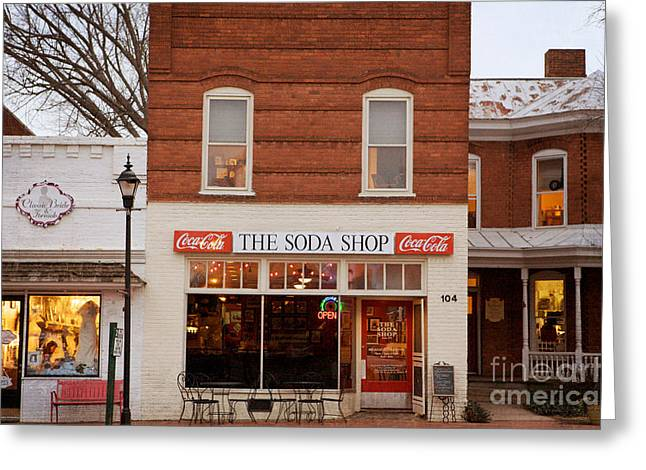 Main Street Greeting Cards - Davidson North Carolina Greeting Card by Kim Fearheiley