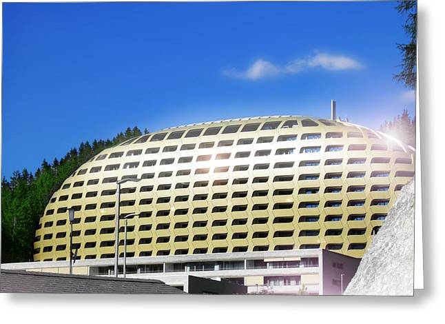 Swiss Photographs Greeting Cards - Davos New Architecture Greeting Card by Leone M Jennarelli