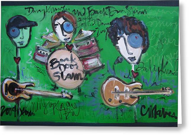 Davy Knowles and Back Door Slam Greeting Card by Laurie Maves Guglielmi
