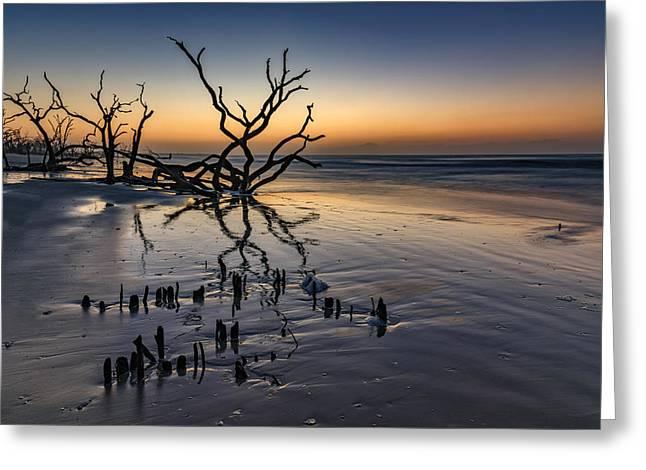 Dawn At Botany Bay Greeting Card by Rick Berk