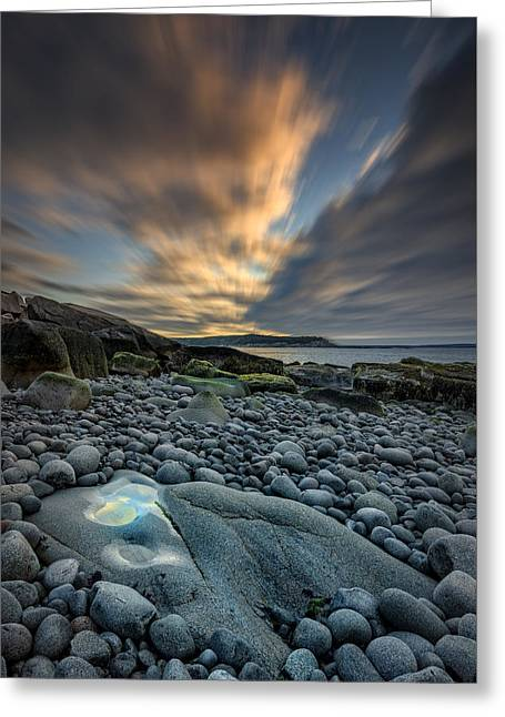 New England Ocean Greeting Cards - Dawn At Boulder Beach Greeting Card by Rick Berk