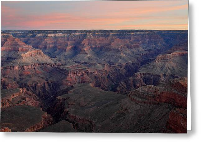 Dawn at Grand Canyon Greeting Card by Pierre Leclerc Photography