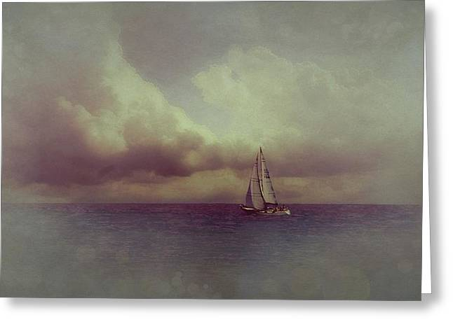 Dream Scape Greeting Cards - Dawn at the Adriatic Greeting Card by Hugo Bussen