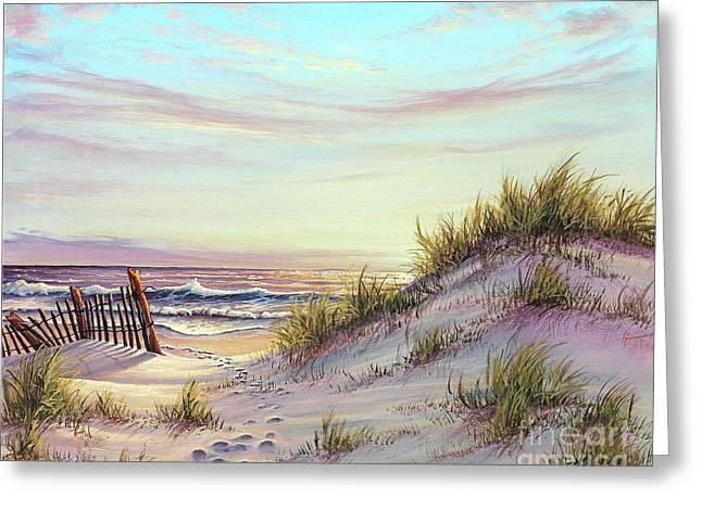 Dawn At The Beach Greeting Card by Joe Mandrick